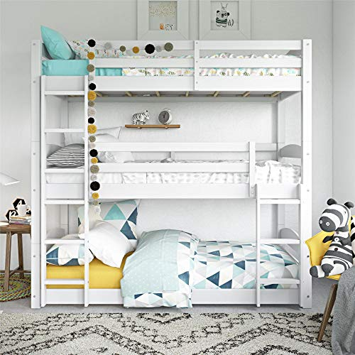 - Dorel Living Phoenix Triple Floor Bunk Bed, White