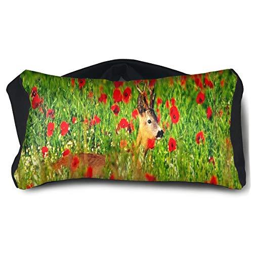 Eye Pillow Deer Flowers Beautiful Cool Mens Portable Blindfold Sleeping Eye Bag Bed