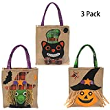 MHKECON Halloween Tote Bags Costume Party Favor Bags Candy Goody Bag for Kids, Boys and Girls (All)
