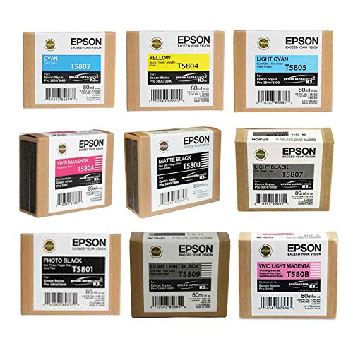 Epson Complete Ink Cartridge Set for Stylus Photo 3880 Printer IESK3880C