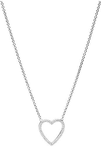 Collier Femme Blanc Fossil Coeur Argent Oxyde De 925 Jfs00378 N0XOZn8kwP