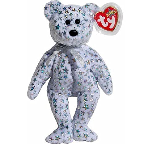 55a212bffc8 Image Unavailable. Image not available for. Color  Ty Beanie Babies -  Beginning the Irridescent Star Studded Teddy Bear ...