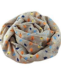 Molyveva Autumn Winter Baby Cute Cotton Printed Scarf O Ring Collar Scarves
