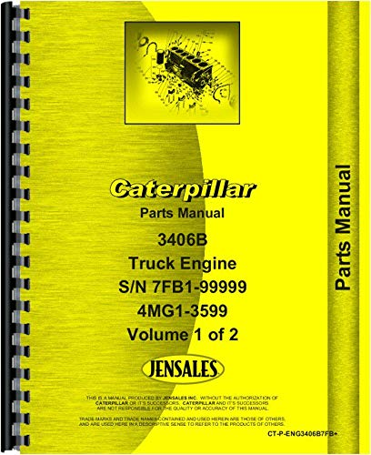 Caterpillar 3406B Engine Parts Manual (Sn 7FB1-9999, 4MG1-3599)