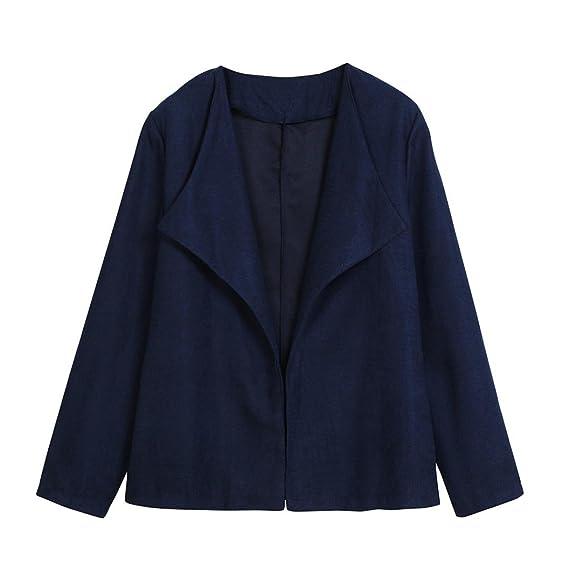 Internet Traje Slim casual de oficina de mujer Chaqueta de negocios Blazer Moda (Azul,