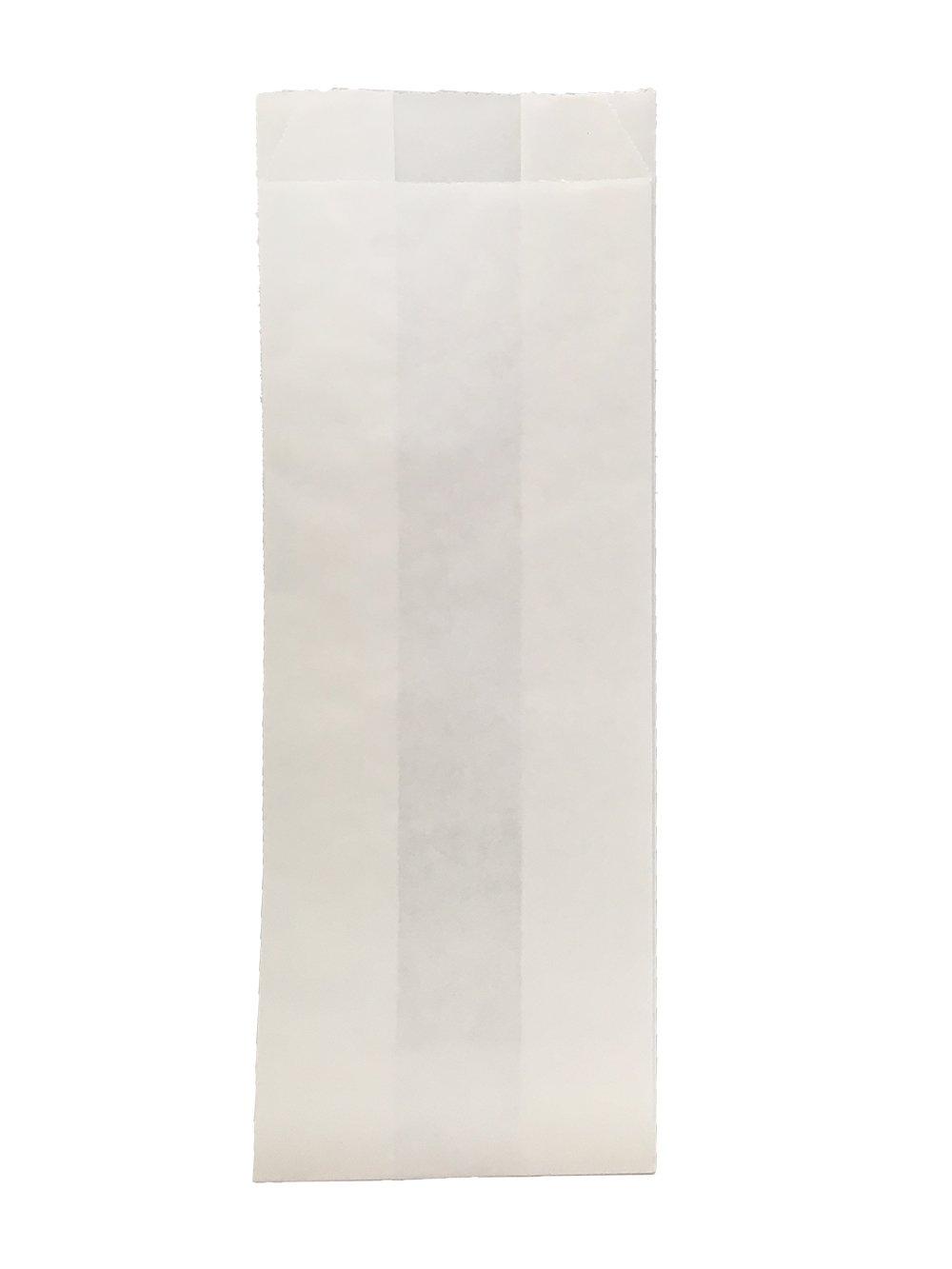Durable Packaging White Hotdog Bag, 3'' x 2'' x 9'' (Pack of 1,000)