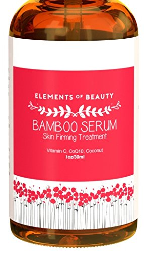 Bamboo Serum by Elements of Beauty (1 oz) - Skin Firming Treatment Helps Tighten Sagging Skin - Anti-Wrinkle Serum Locks in Moisture - With Vitamin C, CoQ10 and ()