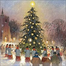 Charity Christmas Cards (ALM4380) In Aid Of Guide Dogs for the Blind Association - Christmas Carolling - Pack Of 8 Cards