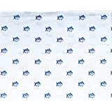 southern tide bedding 4 piece printed cotton queen sheet set solid white with small blue fish