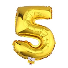 """32"""" Gold Foil/Helium Balloon Number 5"""