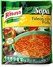 Knorr, Knorr Sopa Instantánea de Fideo con Pollo sobre de 95 gramos. El empaque puede variar