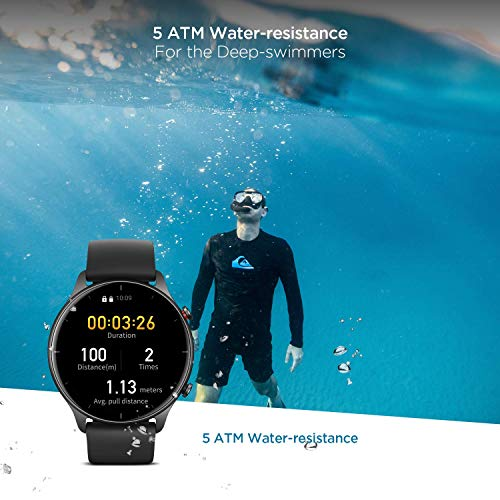Smartwatch Amazfit GTR 2e, Relógio Inteligente, 2.5D Curved Bezel-Less Design, 1.39 〞Always-On Amoled Display, SpO2…