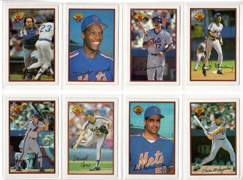 New York Mets 1989 Bowman Baseball Team Set (FIRST YEAR OF BOWMAN BASEBALL CARDS SINCE 1955)