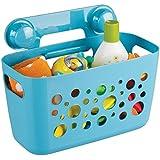 mDesign Duschkorb für Kinder zum Hängen – die ideale Duschablage für Shampoo, Schwämme, Rasierer und sonstiges Duschzubehör aus robustem Kunststoff – ohne Bohren zu montieren