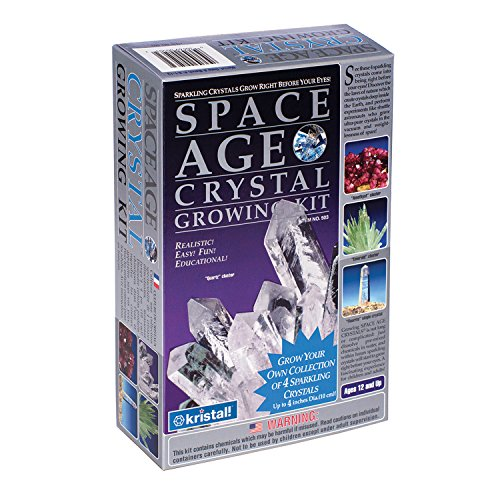 Space Age Crystal Growing Kit: 4 Crystals (Quartz, Emerald, Amethyst)