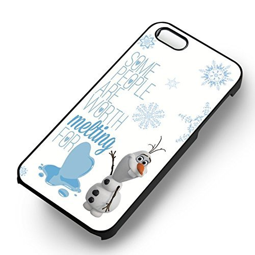 Unique Olaf's Frozen Quote pour Coque Iphone 5 or Coque Iphone 5S or Coque Iphone 5SE Case (Noir Boîtier en plastique dur) Z5L6AG