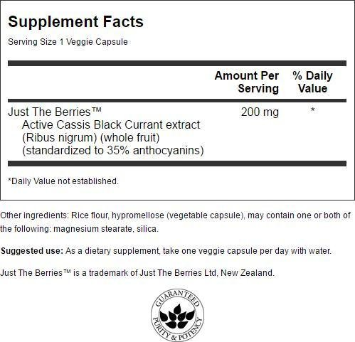 Swanson Black Currant Extract 200 mg 30 Veg Caps 4 Pack by Swanson (Image #1)
