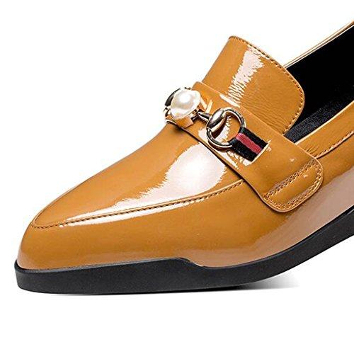 en 5 UK4 Sauvage Cuir Chaussures Marron MUMA en Shoes CN37 Escarpin Brown Grossiers Talons 5 Taille Femmes Bottom Casual à Cuir Couleur Marron Black Chaussures pour EU37 wggazXTqB