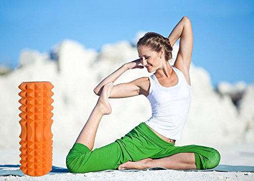 High-Density Round Foam Roller EVA High Density Foam Trigger Point For Physical Therapy and Exercise - Ideal for Myofascial Release and Full Body Stiffness Relief, Orange