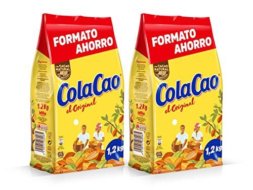 ColaCao Original: con Cacao Natural y sin Aditivos – 1200g (Pack de 2)