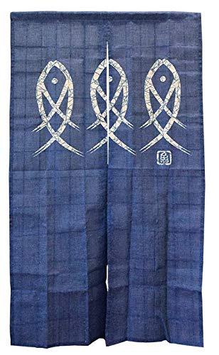 Japan Blue Noren Curtain Tapestry Enso Circle Long Type