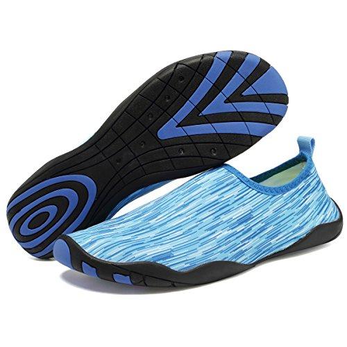 Wasserschuhe Herren Schnelltrocknend Rutschfeste Aqua Schwimmen Hellblau01 equick Strandschuhe Wassersport Kinder Schuhe Badeschuhe EQUICK Leicht Yoga für Barfuß Damen Pv6qEn
