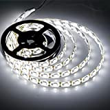 Battery Powered Led Strip Lights,Geekeep Waterproof Flexible LED Light Strips SMD 5050 LED Ribbon Light Mood Light (2M/6.56ft, Cool White)