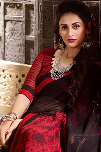 Traditional amp; Indian Sari Sari Wear Wedding Indiani Progettista Nero Red Le Da Black Sarees Sari Per Women For Partito Designer Donne amp; Da Nozze Di 3 Indossare Tradizionale 3 Rosso Party Facioun Facioun F5gqgw8z