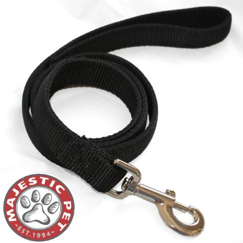1in x 6ft Dbl Lead Dog Leash Black By Majestic Pet Products by Majestic - Lead Pet Majestic