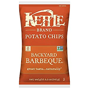 Kettle Brand Potato Chips, Backyard Barbeque, 8.5 Ounce Bags (Pack of 12)