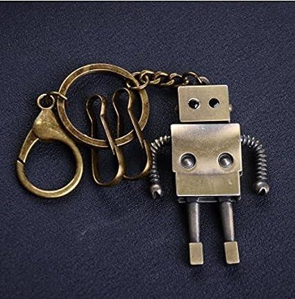 WANG Llavero De Coche Vintage Robot Pen Llavero De Coche ...