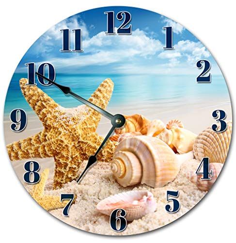 (Sugar Vine Art Beach Clock Large 10.5