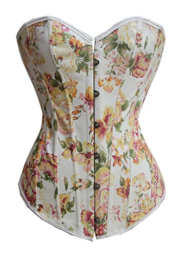 AS503anakla Fashion Floral Fantasy Burlesque Lady Corset (XL)