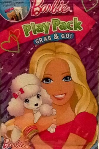 Play Pack Grab & Go! Mini Set~ Barbie ~ Posh Pets ~ Crayons ~ Stickers ~ Coloring Book Go Go Pets Set