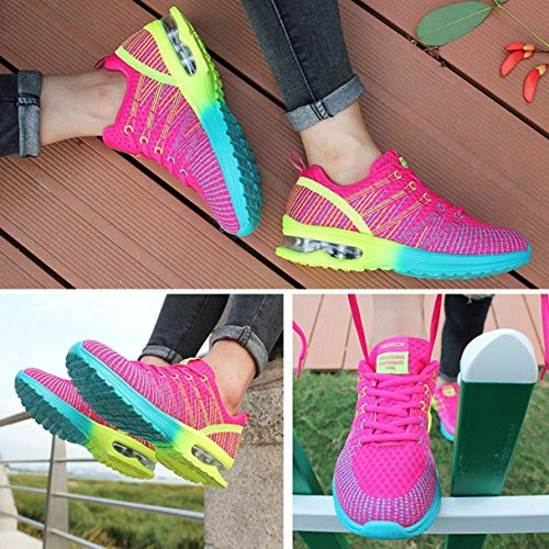 Breathable Sneakers Comfortable Mesh Up Sport Shoes Wafalano Lace Jogging Shoes Running Walking Athletic Lightweight Outdoor Woman gwfISZq