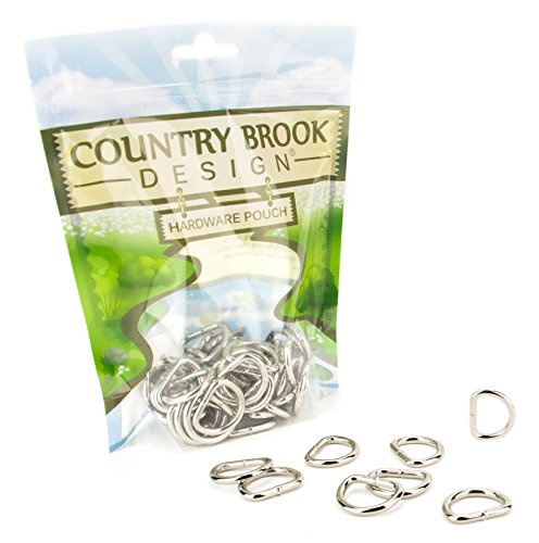 Country Brook Design - 3/4 Inch Welded D-Rings (50 Pack)