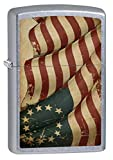 Zippo Lighter: 1776 American Flag - Street Chrome
