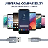 USB Type C Cable,OneKer(2-Pack 3.3FT) USB C Charger Nylon Braided Fast Charging Sync Cord Compatible Samsung Galaxy Note 9 8 S10 S9 S8 Plus,LG V20 G5 G6,Google Pixel 2 XL,Nexus 5X 6P,Nintendo Switch