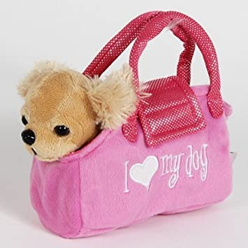 Amazon.com: Puppy in A Purse - Soft Plush Fancy Pet Carrier Puppy ...