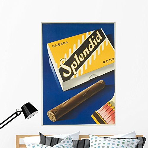 Stick Matchbook (Wallmonkeys Splendid Cigar Wall Decal Peel and Stick Graphic WM355256 (48 in H x 34 in W))