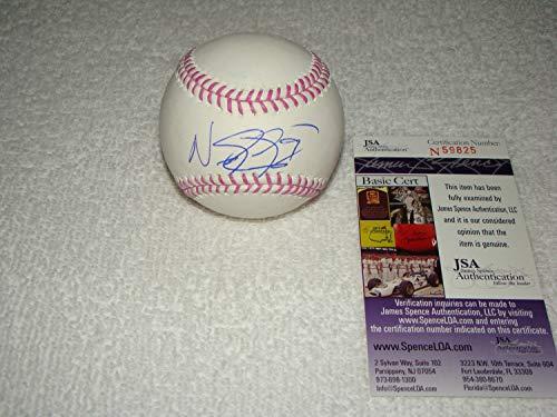 Nick Castellanos Hand Autographed Signed Oml Baseball - JSA Certified #N59825 Detroit Tigers - Signed MLB Baseball Memorabilia