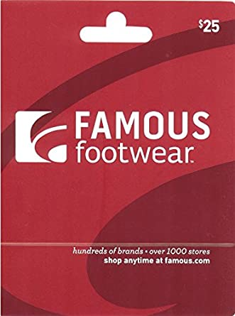 picture relating to Famous Footwear Printable Coupons in Store titled Well-known Sneakers Present Card