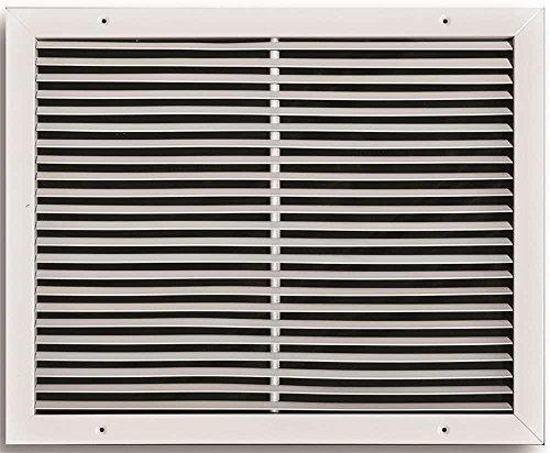 TruAire 14 in. x 14 in. White Aluminum Fixed Bar Return Air Grille