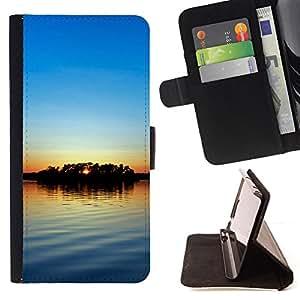 For Samsung Galaxy S3 III i9300 i747,S-type Sunset Beautiful Nature 56- Dibujo PU billetera de cuero Funda Case Caso de la piel de la bolsa protectora