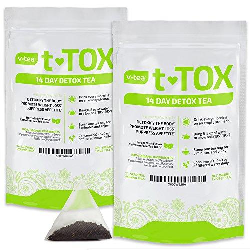 VTEA Detox Tea Cleanse 100% Organic Teatox