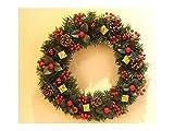 Gelaiken World Christmas Cherry Christmas Wreath Door Hanging Ornaments Room Christmas Tree Pendants for Decoration(Red)