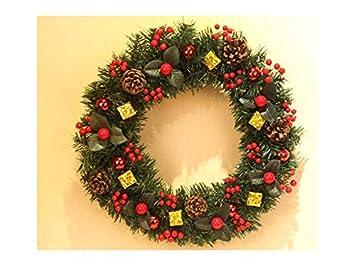 Decorazioni Per Porte Natalizie : Agopo fantastico ciondolo porta ghirlanda natalizia in ciliegio