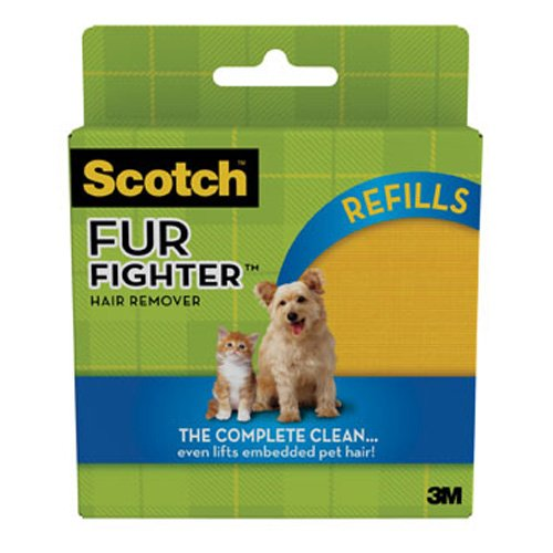 Scotch 878RF-8 Fur Fighter Refill Sheet for Car Interiors, (Pack of 8)