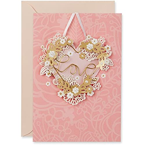 Hallmark Signature Valentine's Day Card: Wire Heart Love Sales