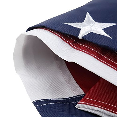 Nylon 4x6 FT Texas & USA Flag (2 Pack) - Oxford 210D Heavy Duty Nylon, Embroidered, Durable and Long Lasting - 4 Stitch Hemming. Vivid Colors & Fade Resistant (4x6 Feet, Texas + USA - 2 Pack)